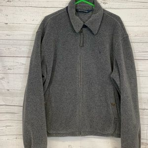 POLO RALPH LAUREN FLEECE JACKET FULL ZIP GRAY L